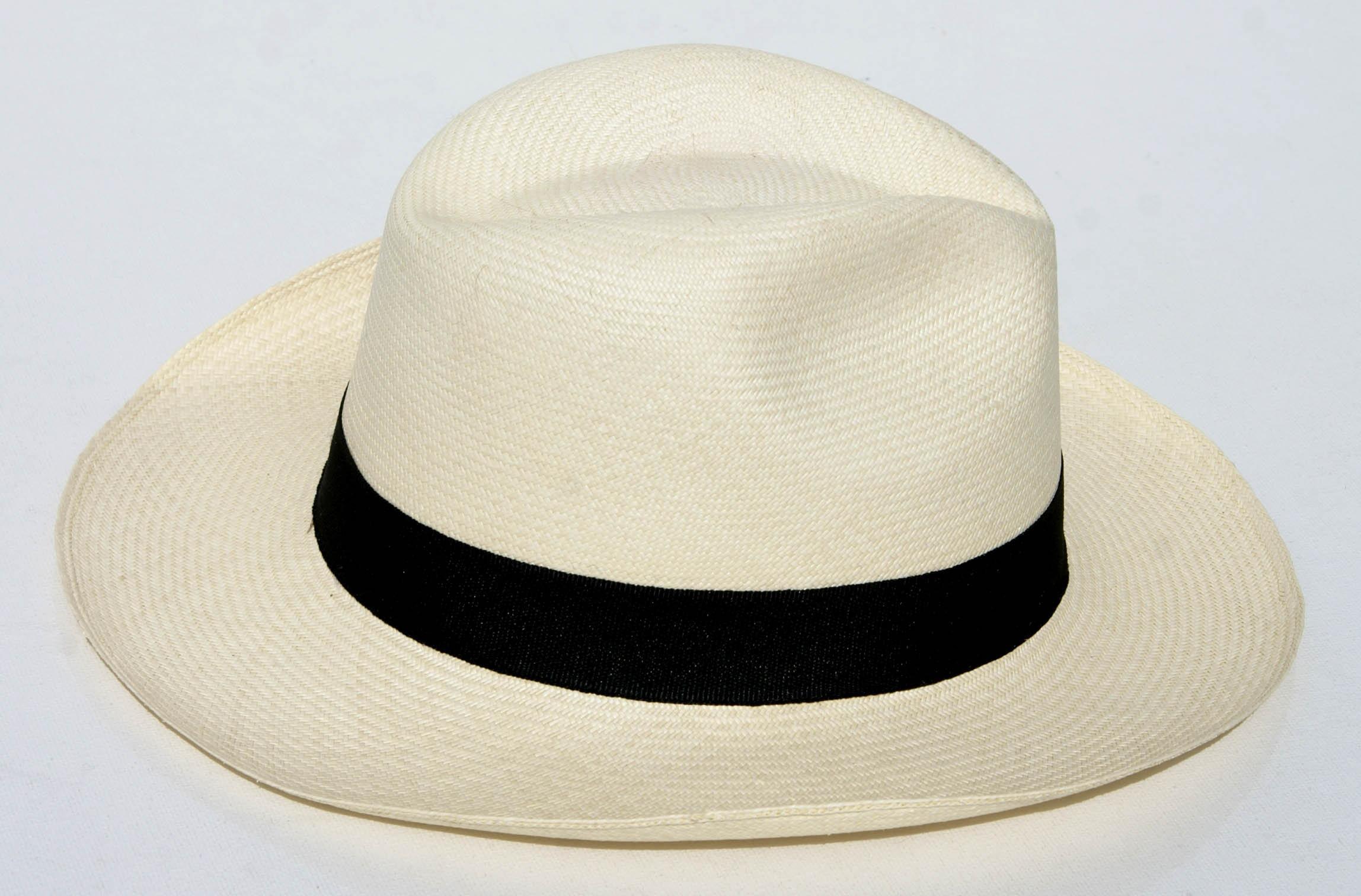 Super Witte oorspronkelijke panama hoed, zomer hoeden voor mannen, mens #WM72