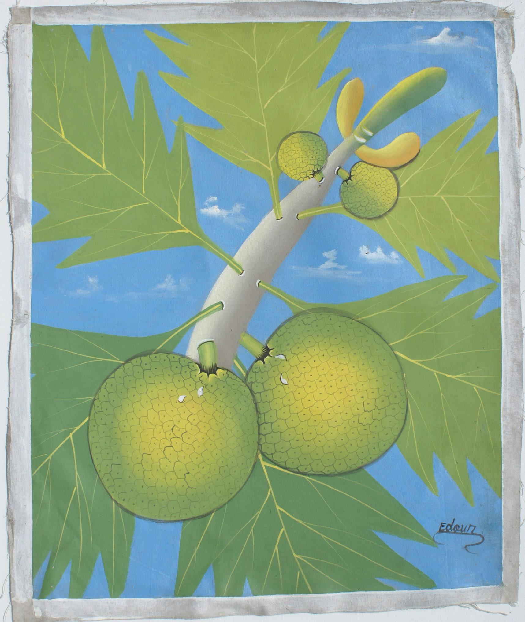 Vruchten origineel schilderij op doek volkskunst ha ti eur veiling nederland - Mandje doek doek ...