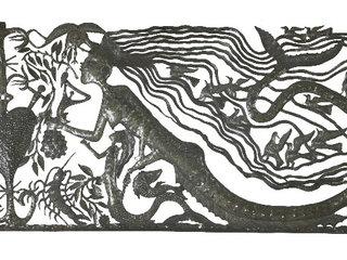 Zeemeerminnen beoefenen van voodoo metalen wand decor muur decoratie